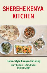 Sherehe Kenya Kitchen menu