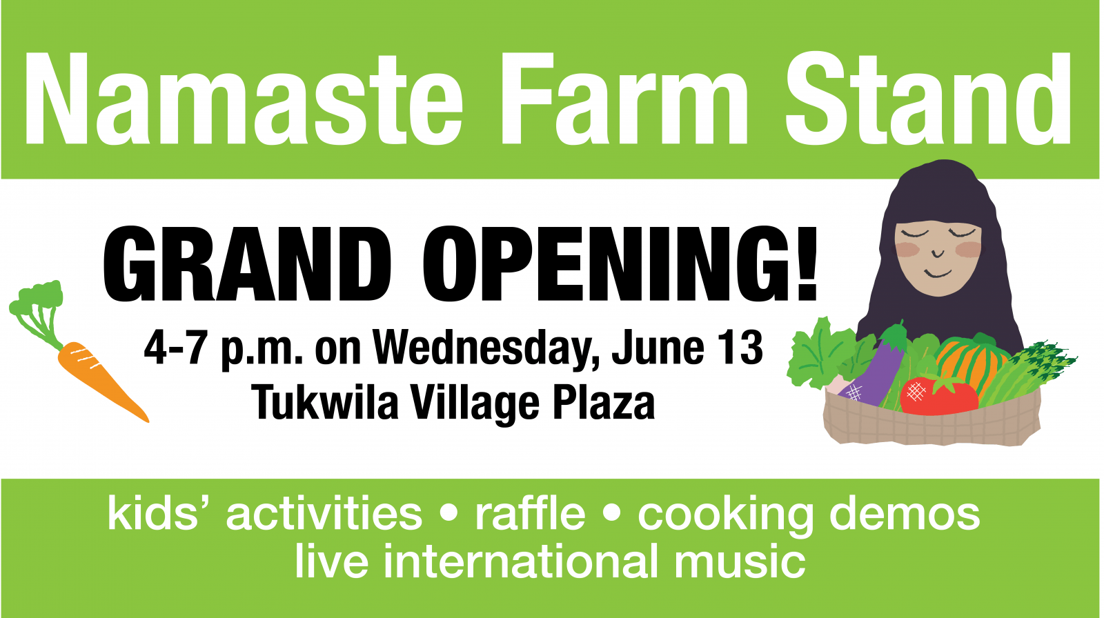 Namaste Farm Stand Grand Opening is June 13
