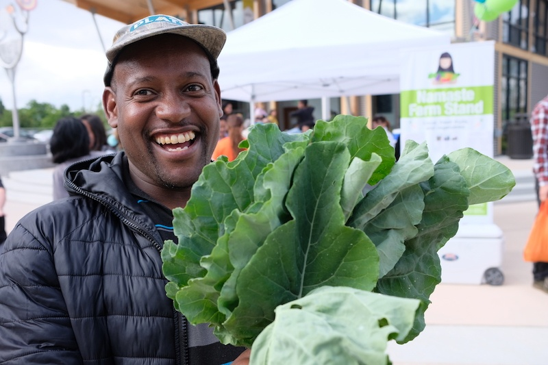 Namaste Farm Stand sells produce grown by local farmers including Francis.