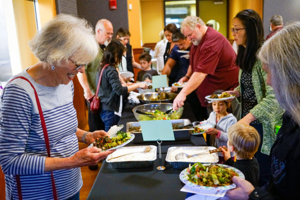 More than 150 guests enjoyed a delicious dinner.