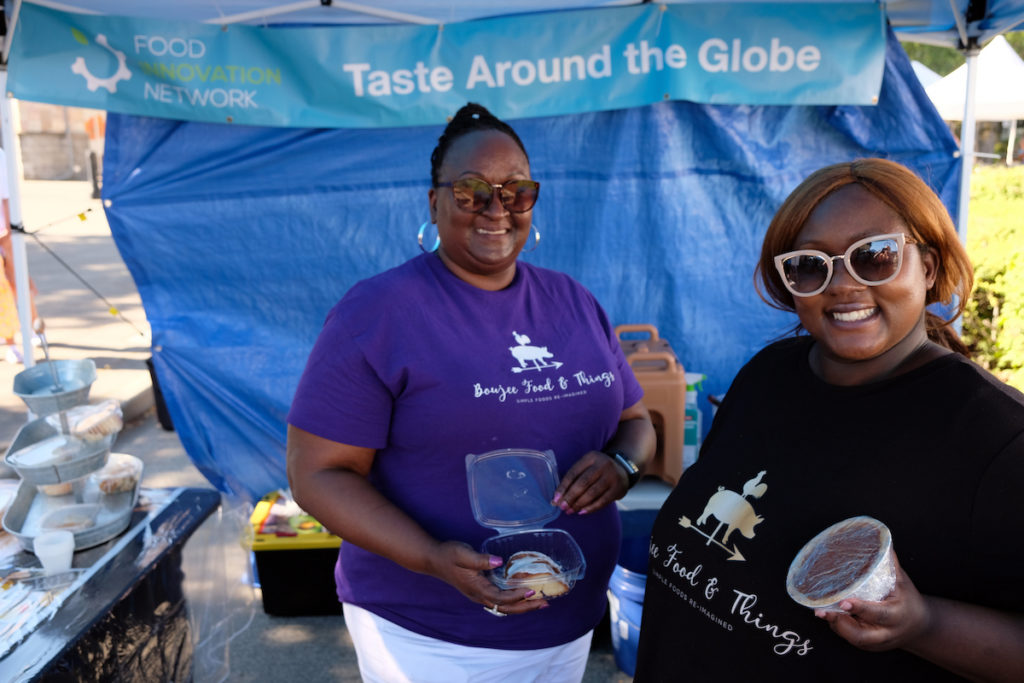 Boujee Food & Things vendors display treats at their farmers market booth
